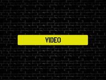 录影-与词与题目社会媒介相关,词,图象,例证的图象 向量例证