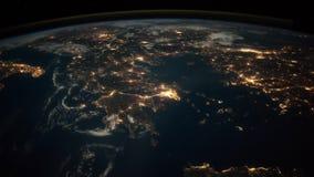 2录影in1 从ISS看见的行星地球 美国航空航天局装备的这录影的元素 股票录像