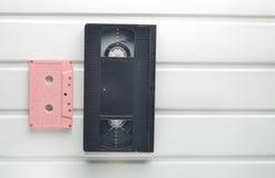 录象带和卡型盒式录音机 免版税库存图片