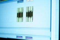 录音室混合的书桌 免版税库存图片