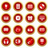录音室项目象红色圈子集合 皇族释放例证