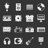 录音室项目象被设置的灰色传染媒介 库存例证
