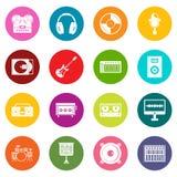 录音室项目象许多彩色组 向量例证