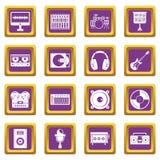 录音室紫色项目的象被设置 皇族释放例证