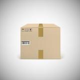 录音的闭合的纸板箱 免版税图库摄影