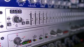 录音的音响器材 免版税图库摄影