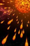 彗星展开星期日 库存照片
