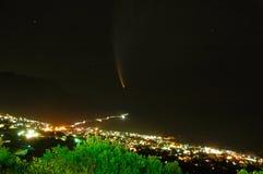 彗星mcnaught 免版税库存照片