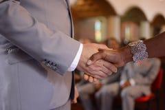 形式化的婚约同意 图库摄影