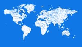 形成世界的形状云彩 免版税库存照片