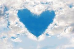 在天空的心脏 图库摄影