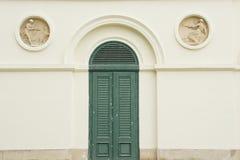 形成弧光与在城堡Pohansko, Lednice/Valtice地区,捷克共和国的门 库存照片
