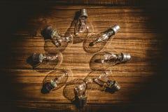 形成框架的电灯泡 免版税库存图片