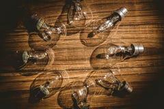 形成框架的电灯泡 图库摄影
