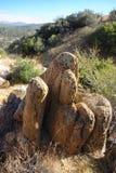 形成横向岩石 库存图片