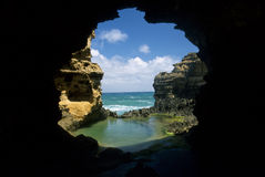 形成洞穴岩石 免版税库存照片