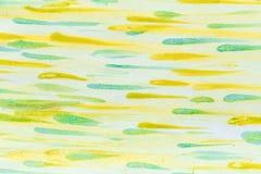 形成由条纹的抽象水彩背景 与白色被绘的条纹和斑点的纸 scrapbooking的,组装背景, 免版税库存图片