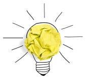 形成电灯泡的纸球 免版税库存图片