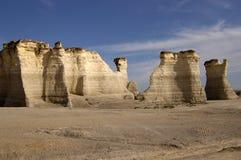 形成石灰石岩石 免版税图库摄影