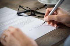 形成签字 免版税库存图片