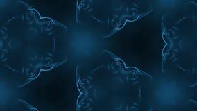 形成细胞微粒的复杂蓝色构成 3d使与万花筒作用的使光滑的微粒动画成环 股票视频