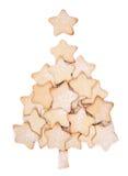 形成结构树的圣诞节曲奇饼 免版税库存照片