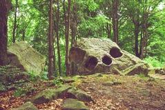 形成自然岩石 免版税图库摄影