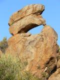 形成花岗岩岩石 库存照片