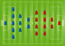 形成足球战术 免版税库存图片
