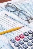 形成1040 2014税年 库存图片