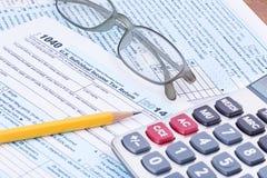 形成1040 2014税年 免版税库存照片
