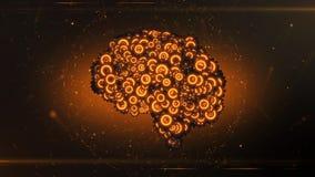形成从钝齿轮的Mehanical脑子 库存照片