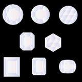 形状宝石雕琢平面 免版税库存图片