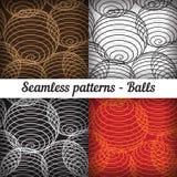 形状的球 仿造无缝的集 向量 库存照片