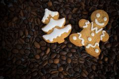 形状的饼干手工制造被绘的结冰 图库摄影