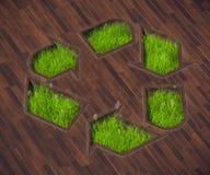 形状草坪象回收 库存照片