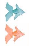 形状装饰品鱼由棕榈叶制成 免版税库存图片