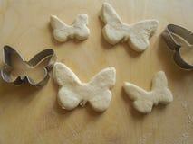 形状蝴蝶面团 库存照片