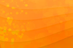 形状bokeh与copyspace的黄色背景 库存图片