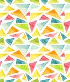 水彩五颜六色的春天三角重复摘要样式 库存图片
