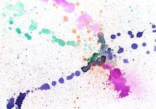 水彩五颜六色的污点 库存图片