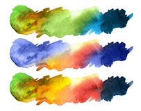 水彩五颜六色的飞溅 免版税库存照片
