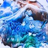 水彩五颜六色的飞溅 库存照片