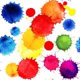 水彩传染媒介无缝的样式 无缝的样式可以为墙纸,样式积土,网页背景,表面纹理使用 图库摄影