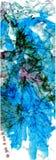 水彩和图表水晶花 免版税库存照片