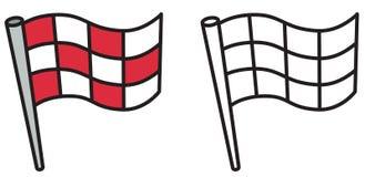 彩图的五颜六色和黑白旗子 皇族释放例证