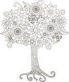 彩图的开花的树 免版税库存照片