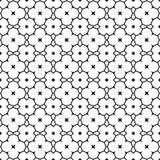 彩图的无缝的黑白抽象装饰样式 皇族释放例证