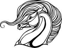 彩图的马头 免版税图库摄影