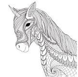 彩图页的独角兽和其他设计元素 也corel凹道例证向量 库存例证